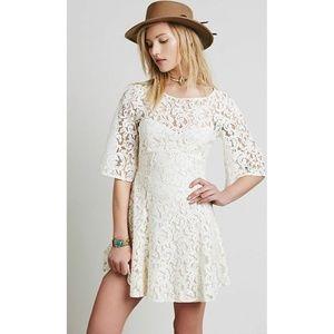 New Free People Gypsy Mountain Mini Dress Sz 6